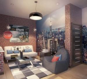 design chambre ado garon stickers muraux tapis - Chambre Ado Garcon Style Industriel